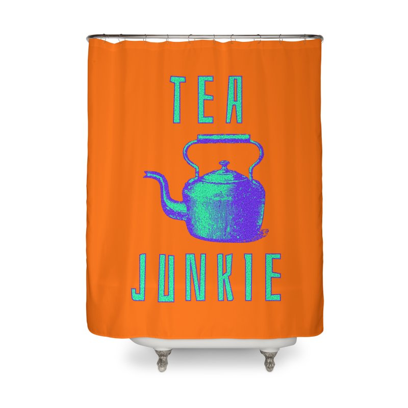Tea Junkie Home Shower Curtain by navjinderism's Artist Shop