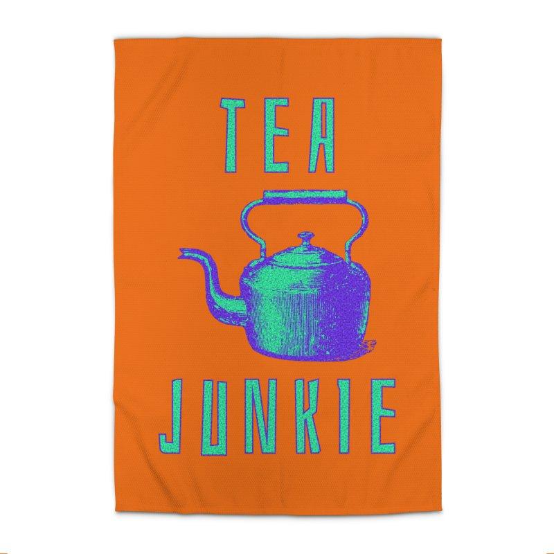 Tea Junkie Home Rug by navjinderism's Artist Shop