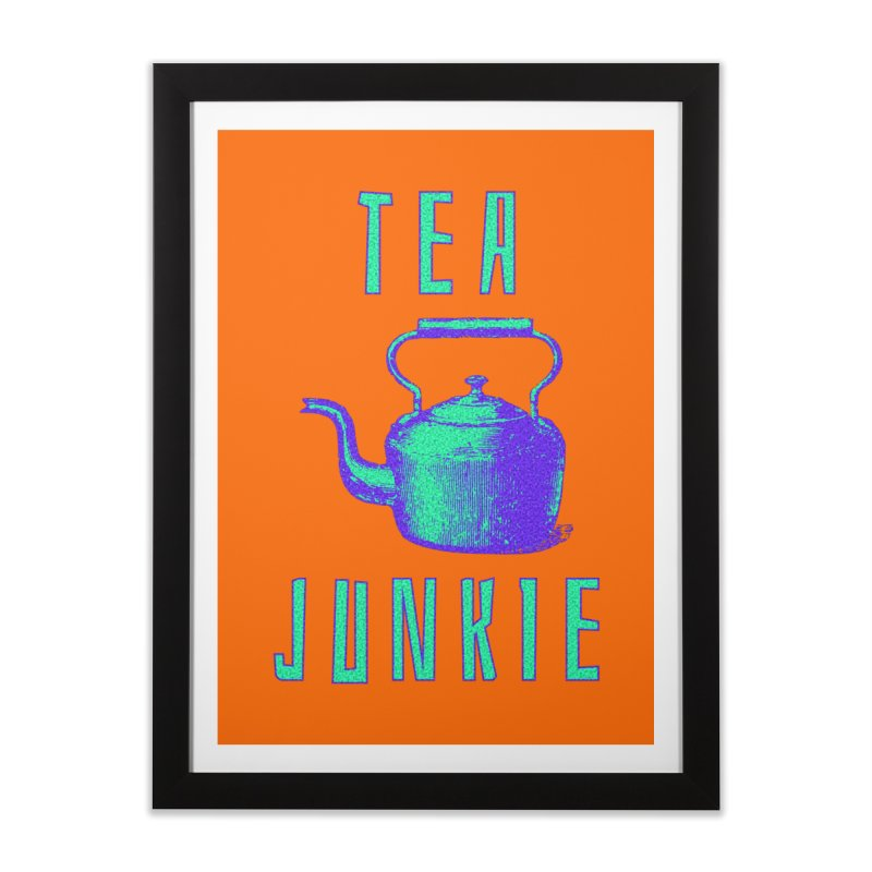 Tea Junkie Home Framed Fine Art Print by navjinderism's Artist Shop