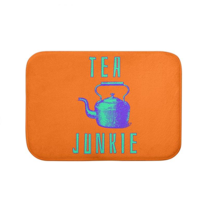 Tea Junkie Home Bath Mat by navjinderism's Artist Shop