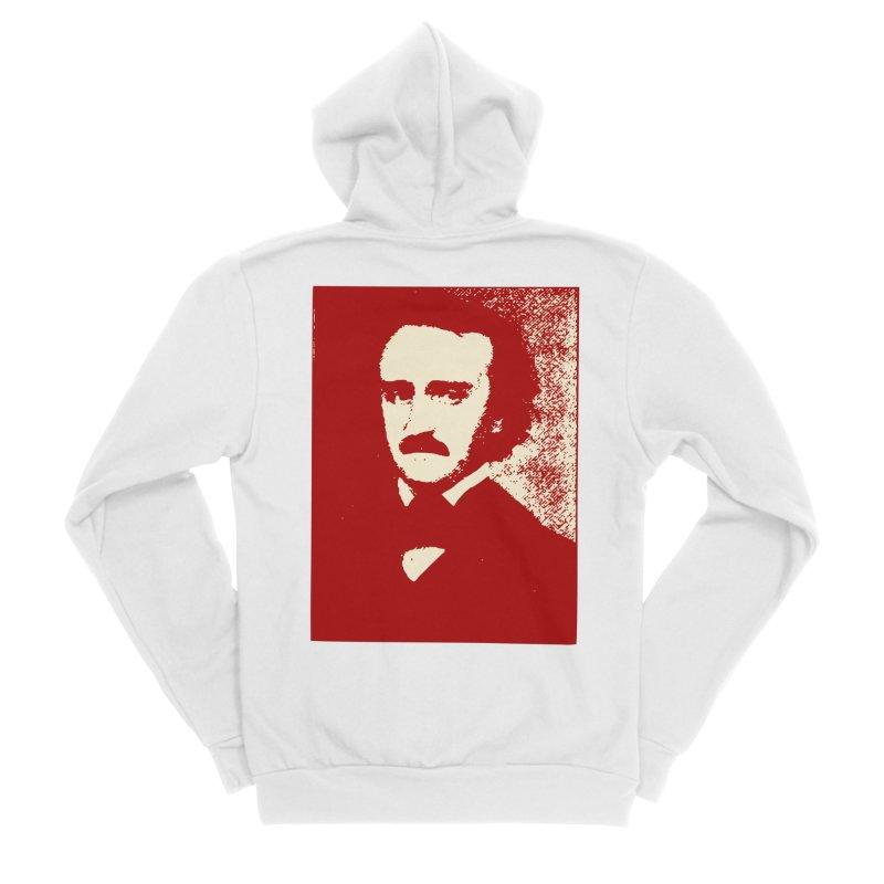 Poe is Poetry Men's Sponge Fleece Zip-Up Hoody by navjinderism's Artist Shop