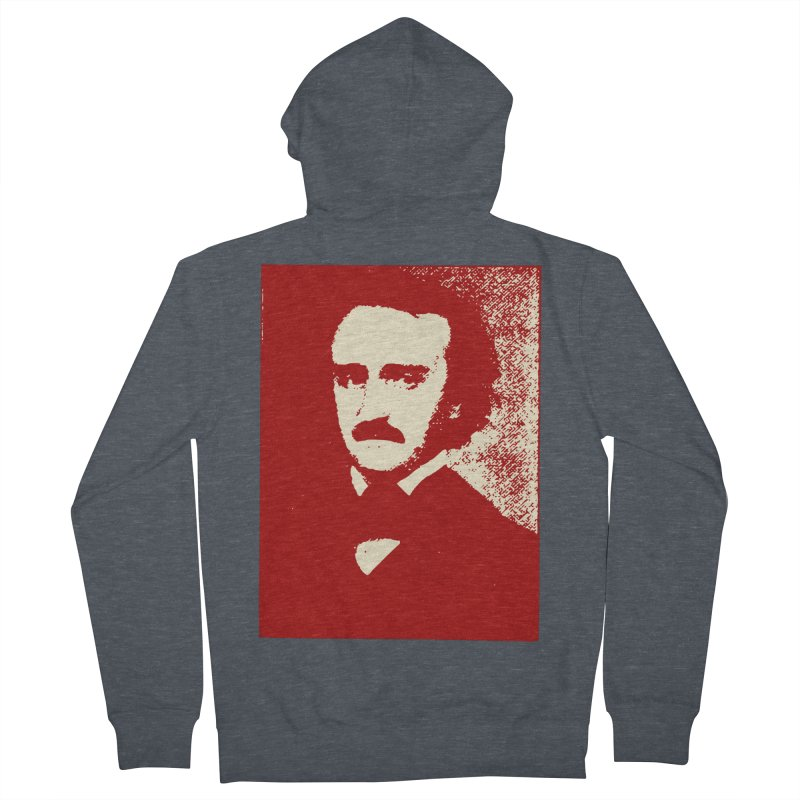 Poe is Poetry Women's French Terry Zip-Up Hoody by navjinderism's Artist Shop