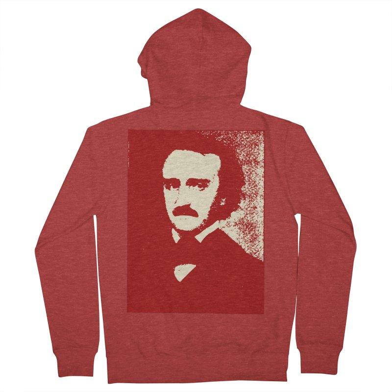 Poe is Poetry Men's French Terry Zip-Up Hoody by navjinderism's Artist Shop