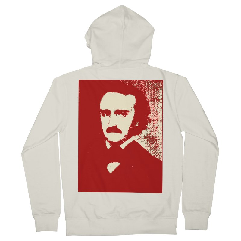 Poe is Poetry Men's French Terry Zip-Up Hoody by navjinderism's Artist Shop