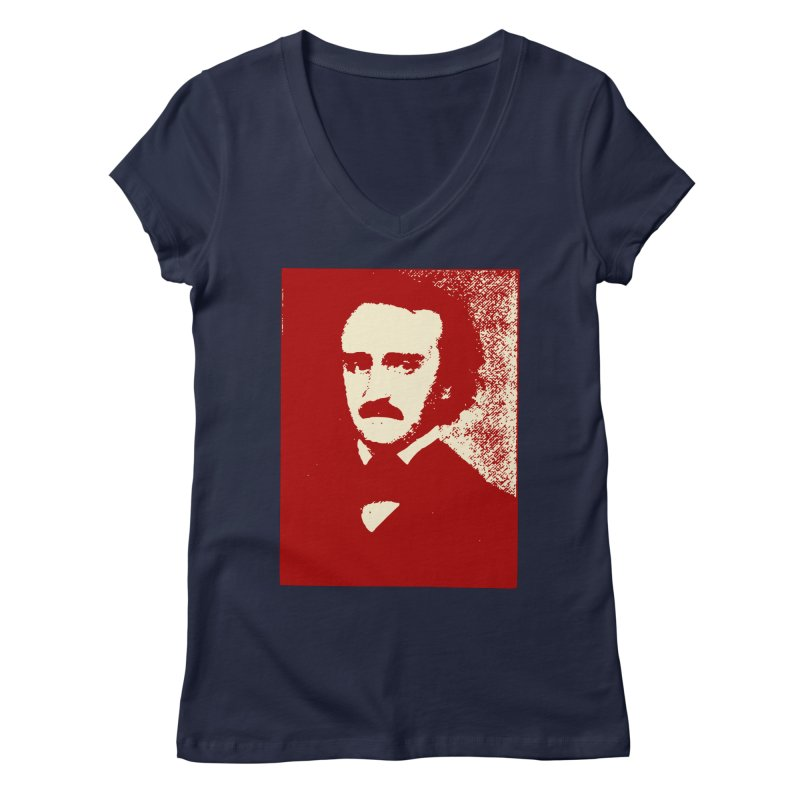 Poe is Poetry Women's V-Neck by navjinderism's Artist Shop