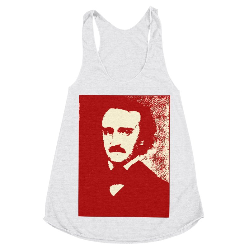 Poe is Poetry Women's Racerback Triblend Tank by navjinderism's Artist Shop