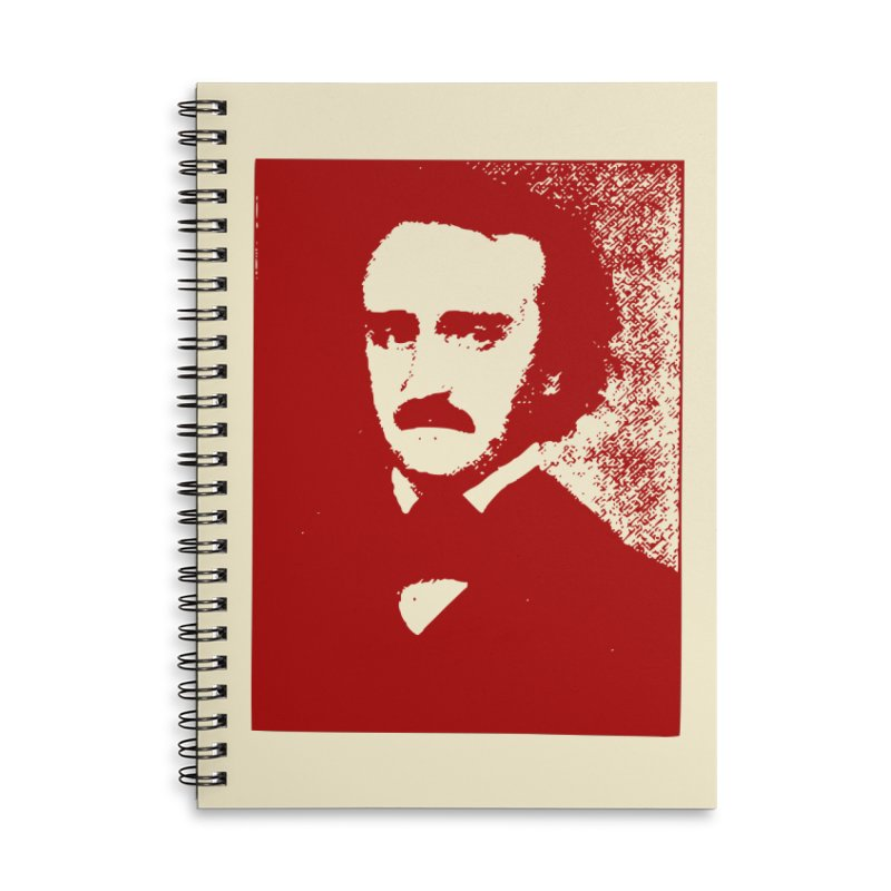 Poe is Poetry Accessories Lined Spiral Notebook by navjinderism's Artist Shop