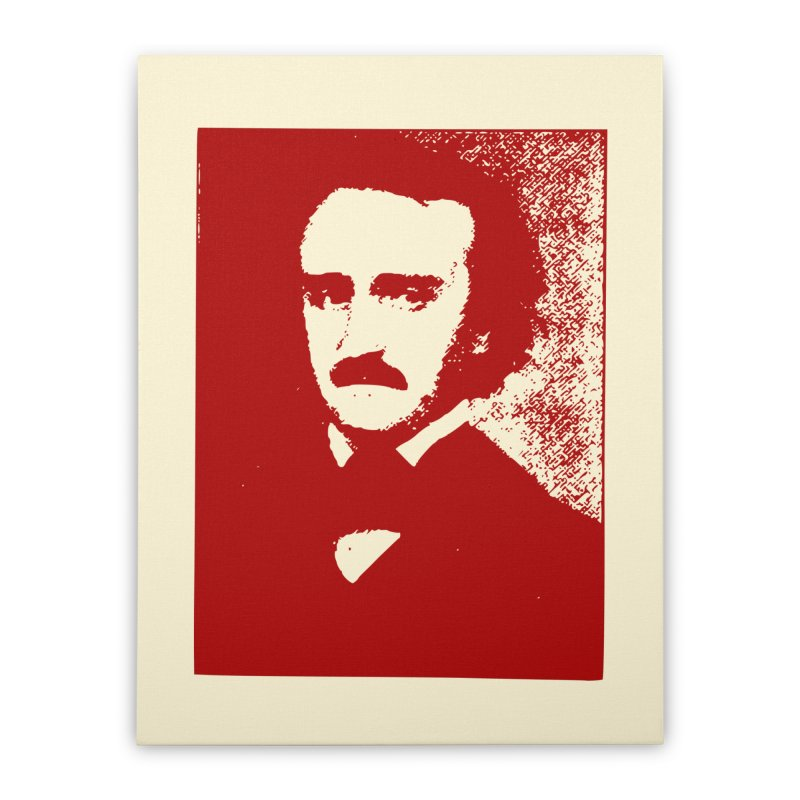 Poe is Poetry Home Stretched Canvas by navjinderism's Artist Shop