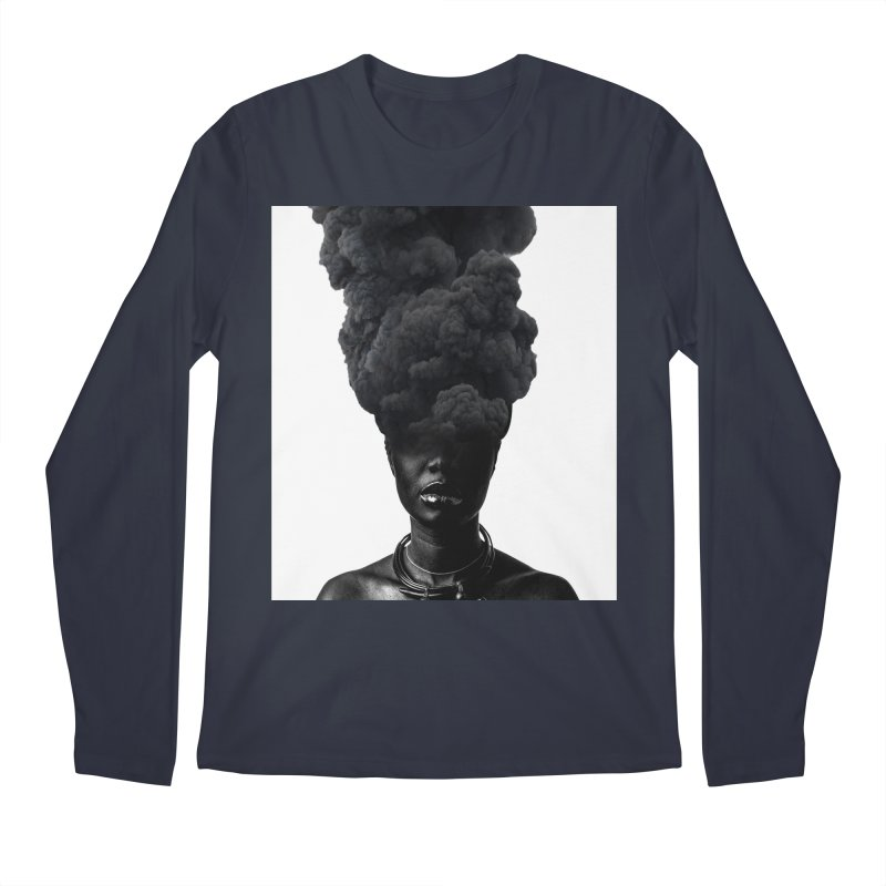 Smoke face Men's Longsleeve T-Shirt by nayers's Artist Shop