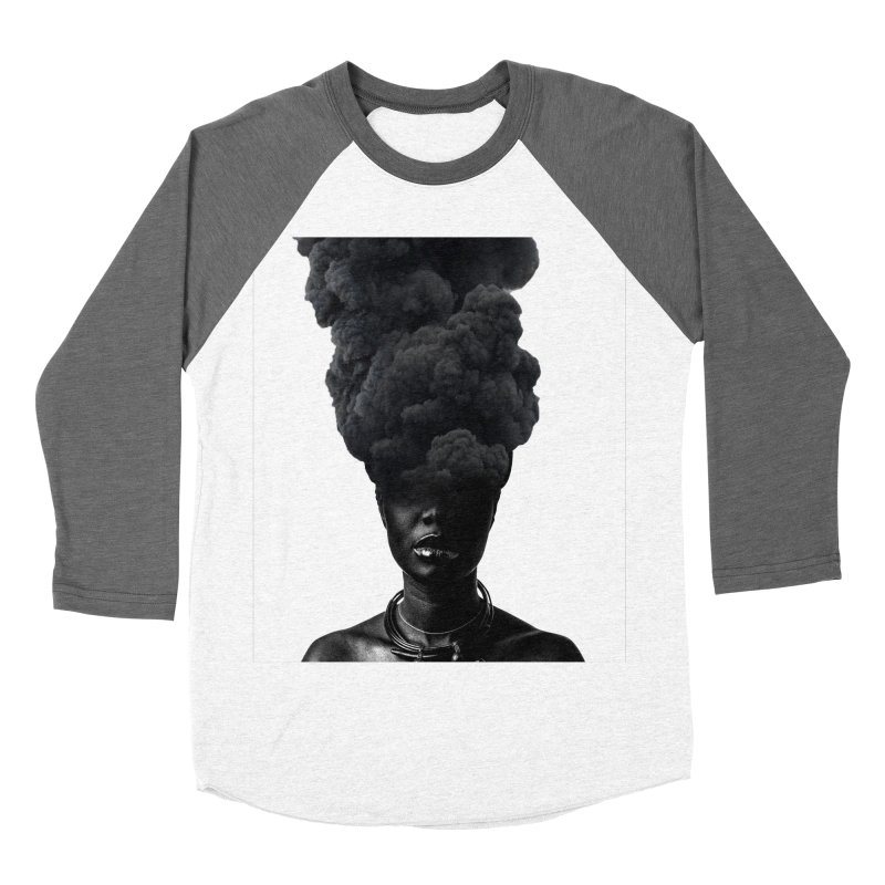 Smoke face Women's Baseball Triblend T-Shirt by nayers's Artist Shop