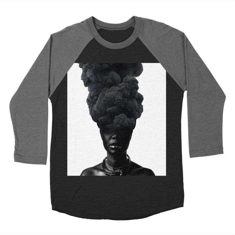 Smoke face Men's Baseball Triblend T-Shirt by nayers's Artist Shop