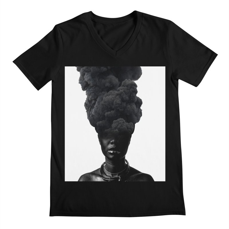 Smoke face Men's V-Neck by nayers's Artist Shop