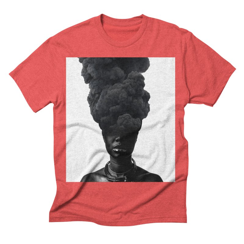 Smoke face Men's Triblend T-shirt by nayers's Artist Shop