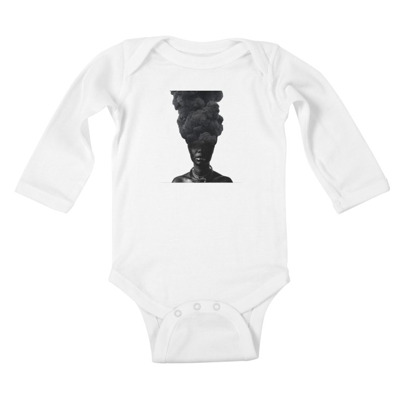 Smoke face Kids Baby Longsleeve Bodysuit by nayers's Artist Shop