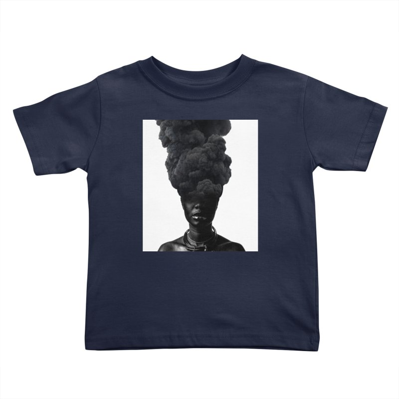 Smoke face Kids Toddler T-Shirt by nayers's Artist Shop