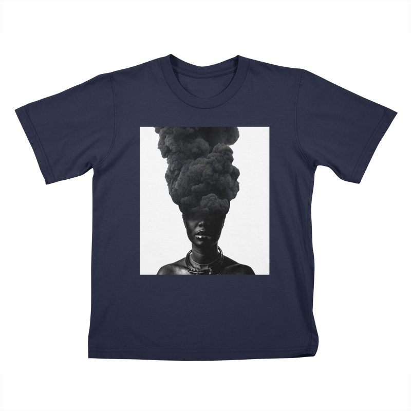 Smoke face Kids T-Shirt by nayers's Artist Shop