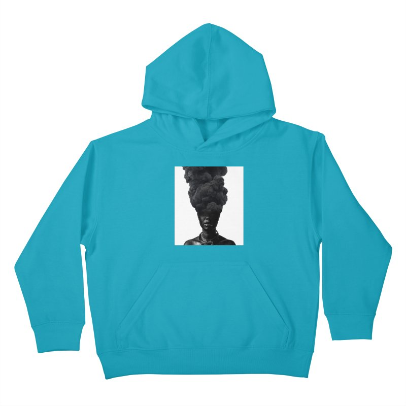 Smoke face Kids Pullover Hoody by nayers's Artist Shop