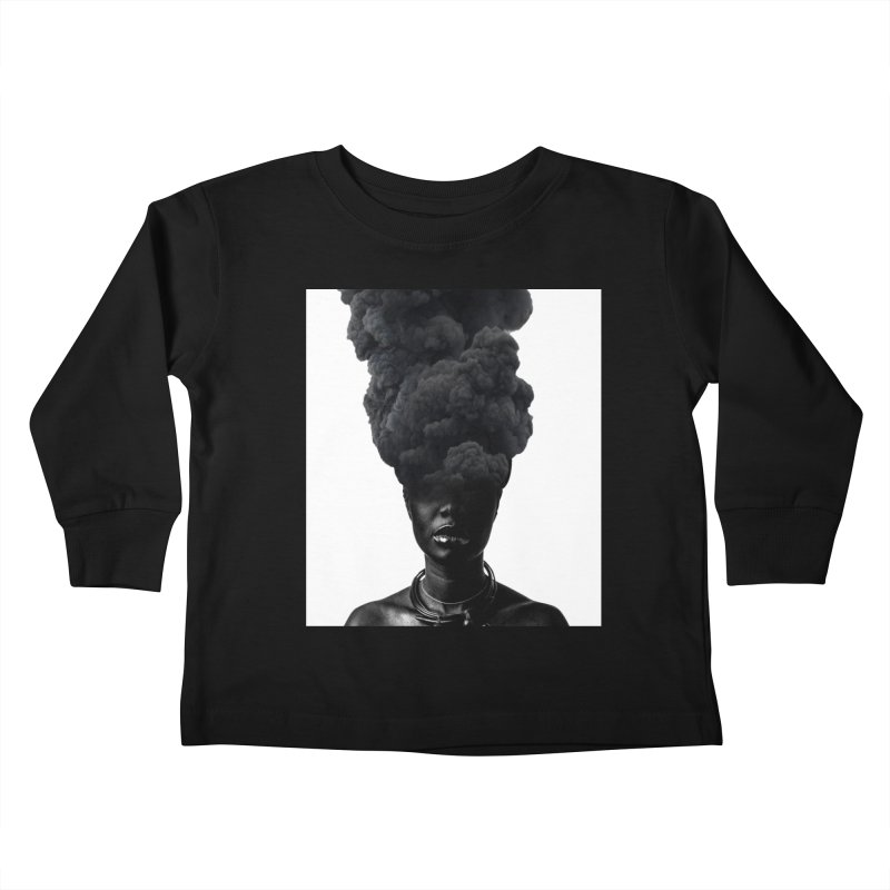 Smoke face Kids Toddler Longsleeve T-Shirt by nayers's Artist Shop