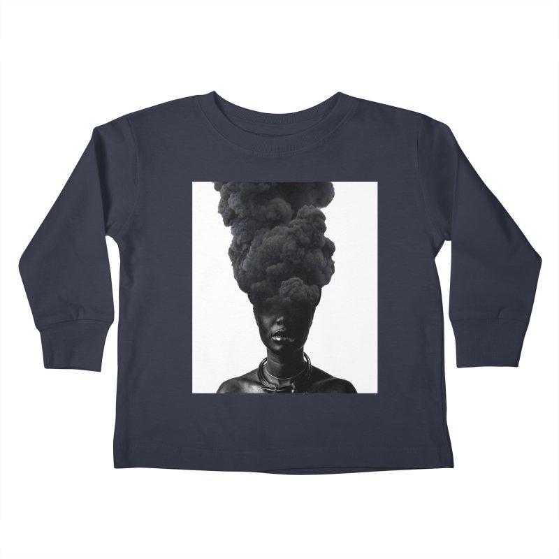 Smoke face Kids Toddler Longsleeve T-Shirt by nayers's Artist Shop