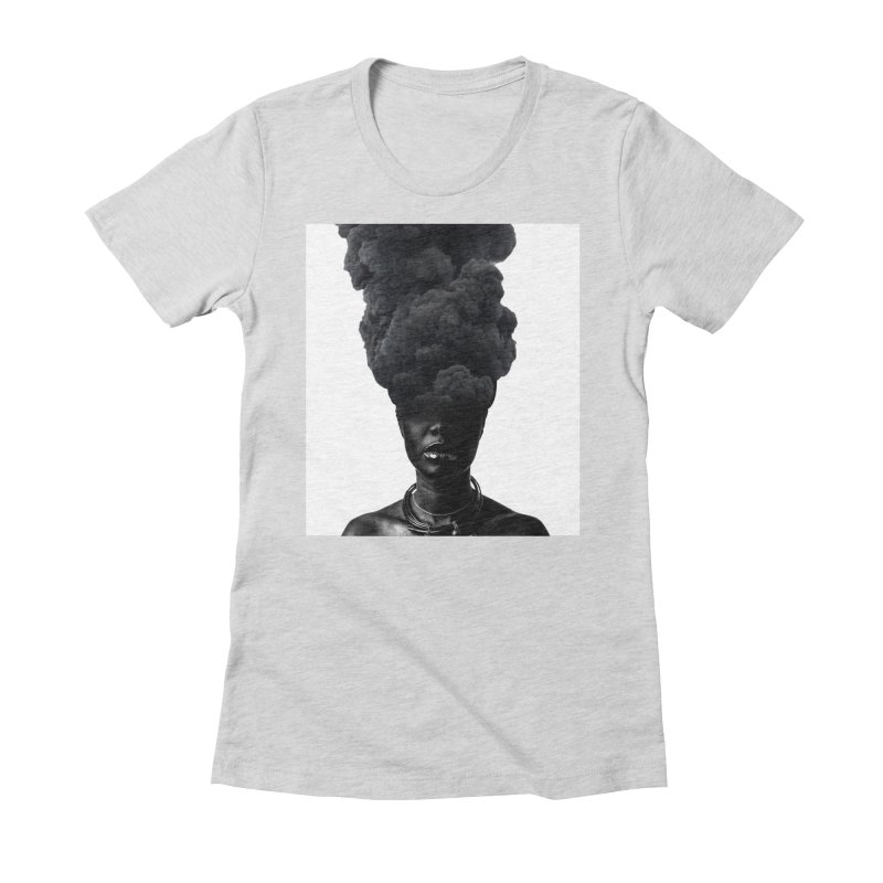 Smoke face Women's Fitted T-Shirt by nayers's Artist Shop