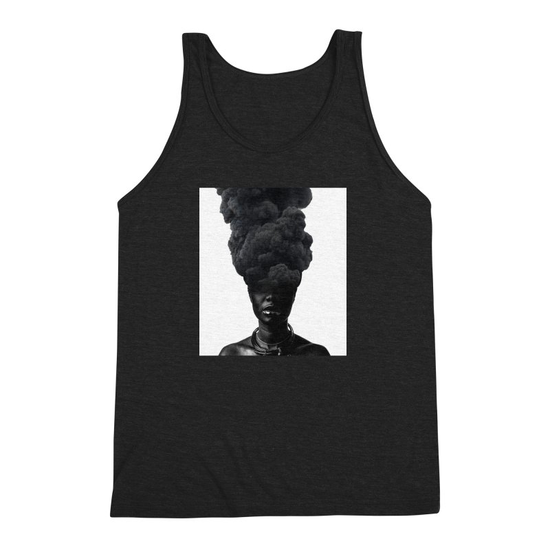 Smoke face Men's Triblend Tank by nayers's Artist Shop