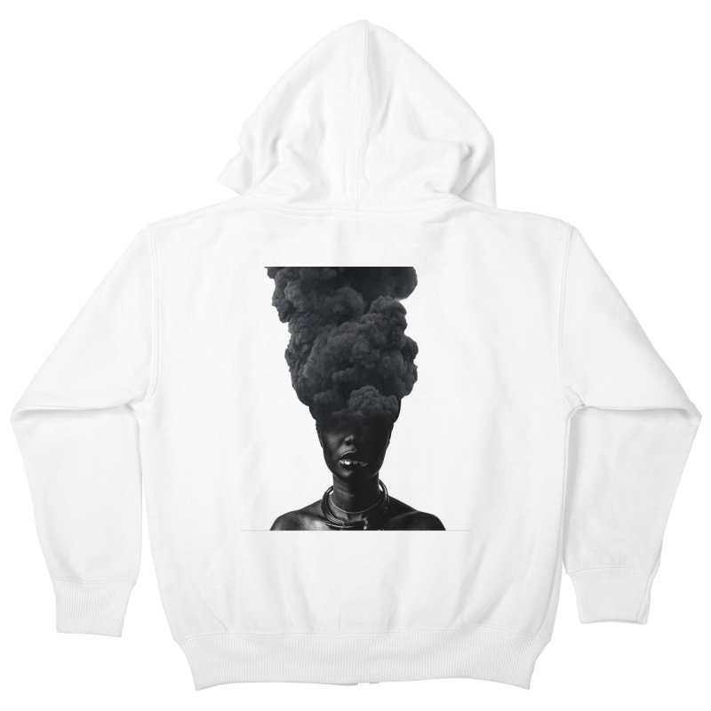 Smoke face Kids Zip-Up Hoody by nayers's Artist Shop