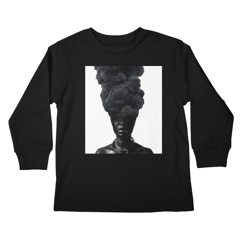Smoke face Kids Longsleeve T-Shirt by nayers's Artist Shop