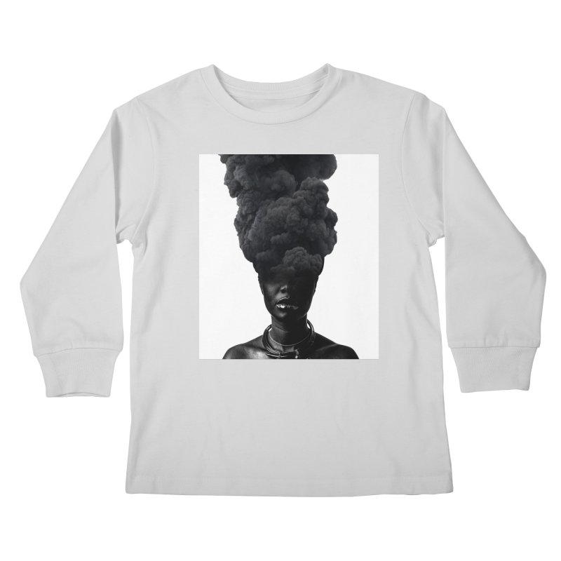 Smoke face Kids Longsleeve T-Shirt by nayers's Artist Shop