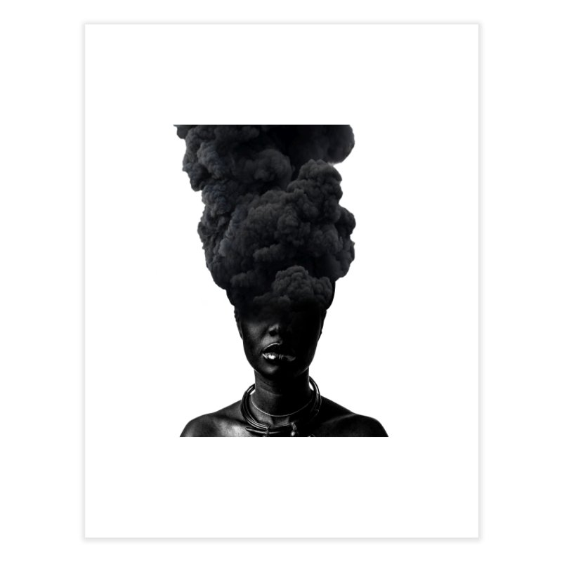 Smoke face Home Fine Art Print by nayers's Artist Shop