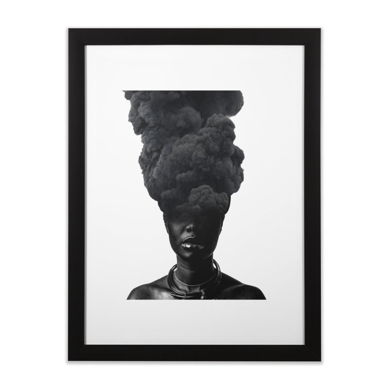 Smoke face Home Framed Fine Art Print by nayers's Artist Shop