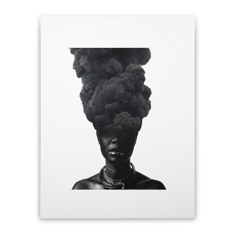 Smoke face Home Stretched Canvas by nayers's Artist Shop