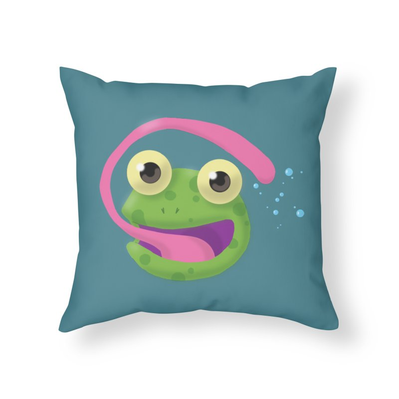 Licked Home Throw Pillow by Nathan Burdette's Artist Shop