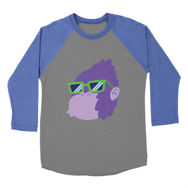 Grape Ape Men's Baseball Triblend T-Shirt by Nathan Burdette's Artist Shop