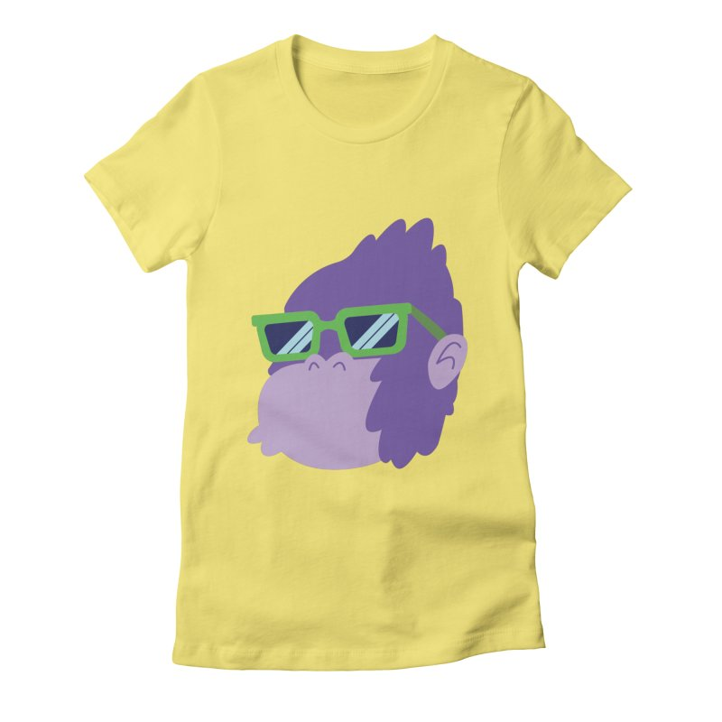 Grape Ape Women's Fitted T-Shirt by Nathan Burdette's Artist Shop