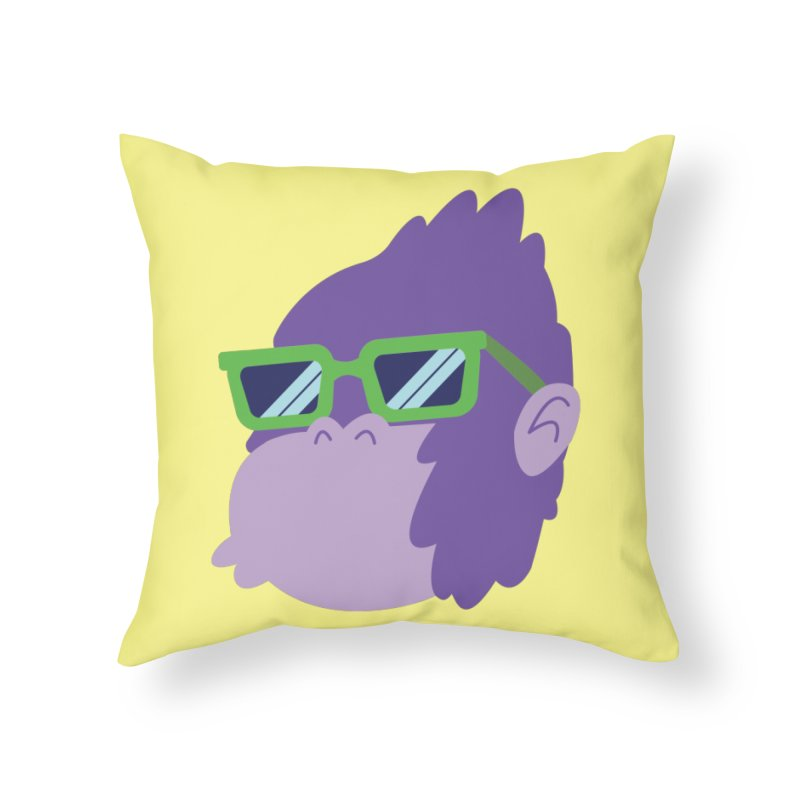 Grape Ape Home Throw Pillow by Nathan Burdette's Artist Shop