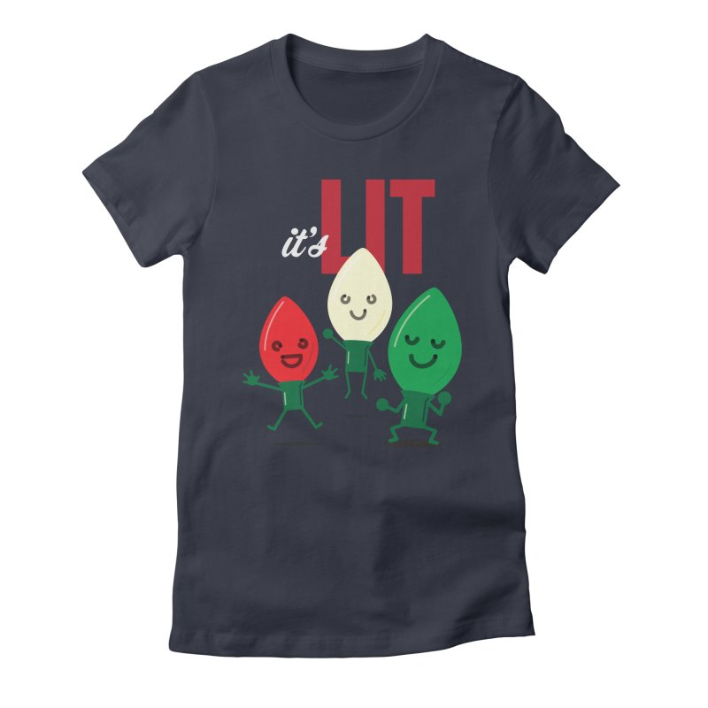 It's Lit Women's Fitted T-Shirt by Nathan Burdette's Artist Shop