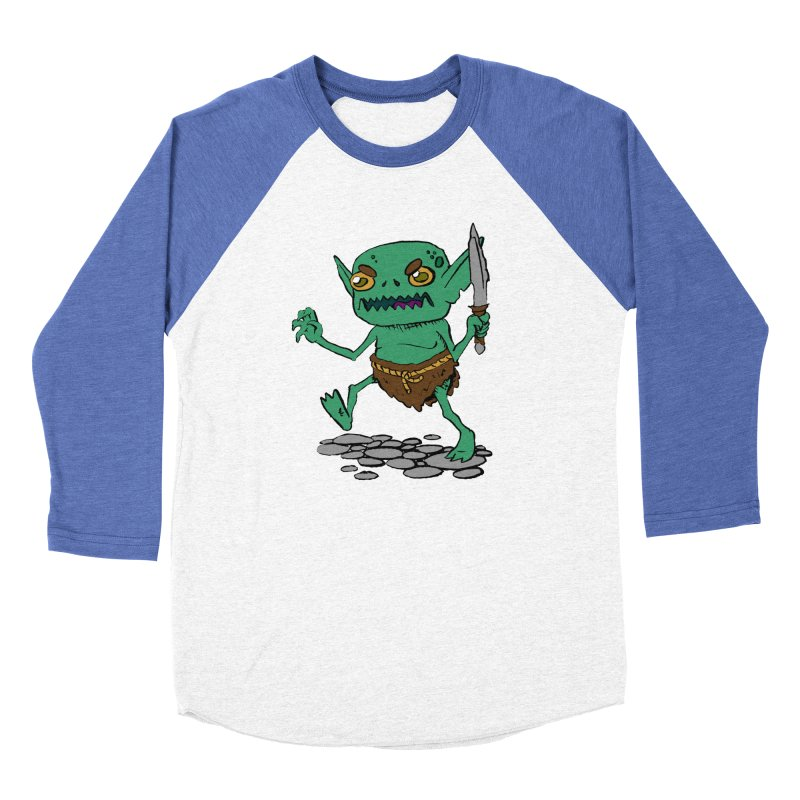 Sweet Goblin Boy Men's Baseball Triblend T-Shirt by Nathan Burdette's Artist Shop