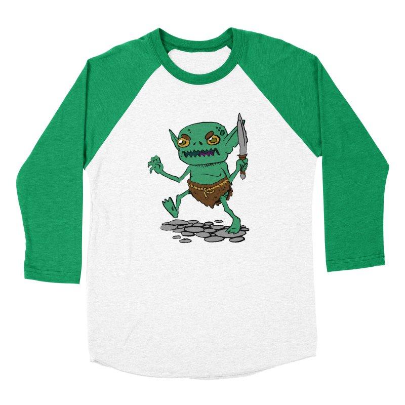 Sweet Goblin Boy Men's Baseball Triblend T-Shirt by Nathan Burdette's Artist Shop