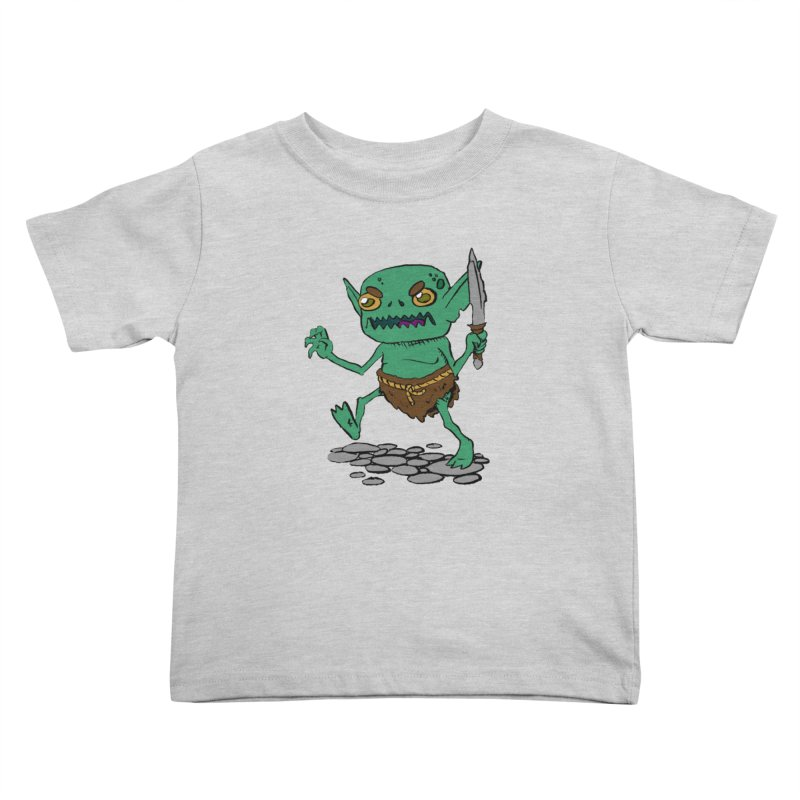 Sweet Goblin Boy Kids Toddler T-Shirt by Nathan Burdette's Artist Shop