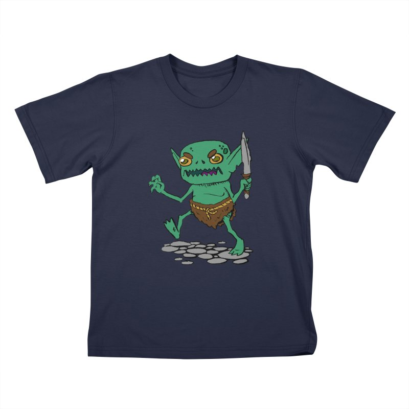 Sweet Goblin Boy Kids T-Shirt by Nathan Burdette's Artist Shop