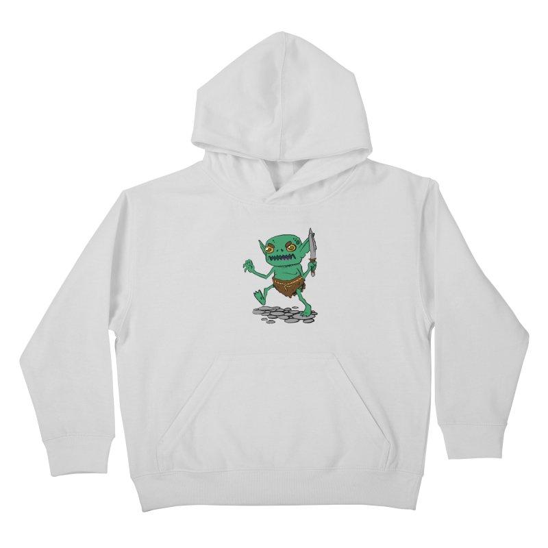 Sweet Goblin Boy Kids Pullover Hoody by Nathan Burdette's Artist Shop