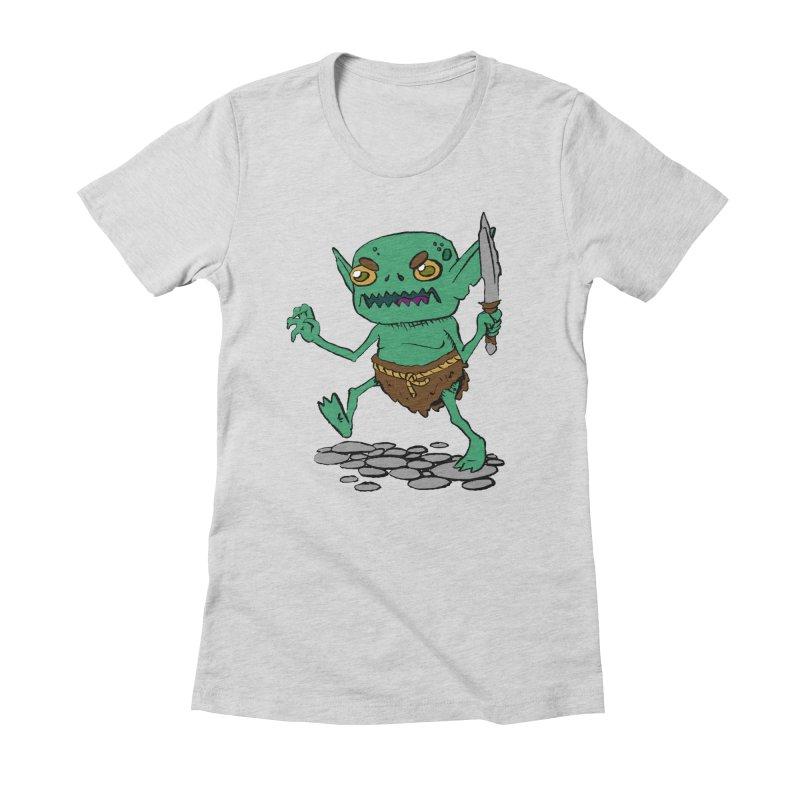 Sweet Goblin Boy Women's Fitted T-Shirt by Nathan Burdette's Artist Shop