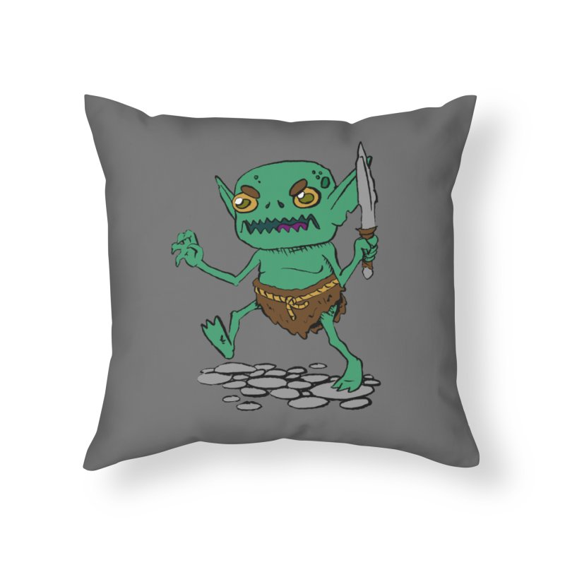 Sweet Goblin Boy Home Throw Pillow by Nathan Burdette's Artist Shop