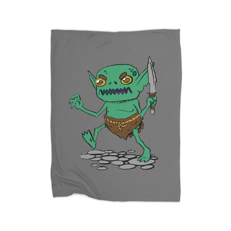 Sweet Goblin Boy Home Blanket by Nathan Burdette's Artist Shop