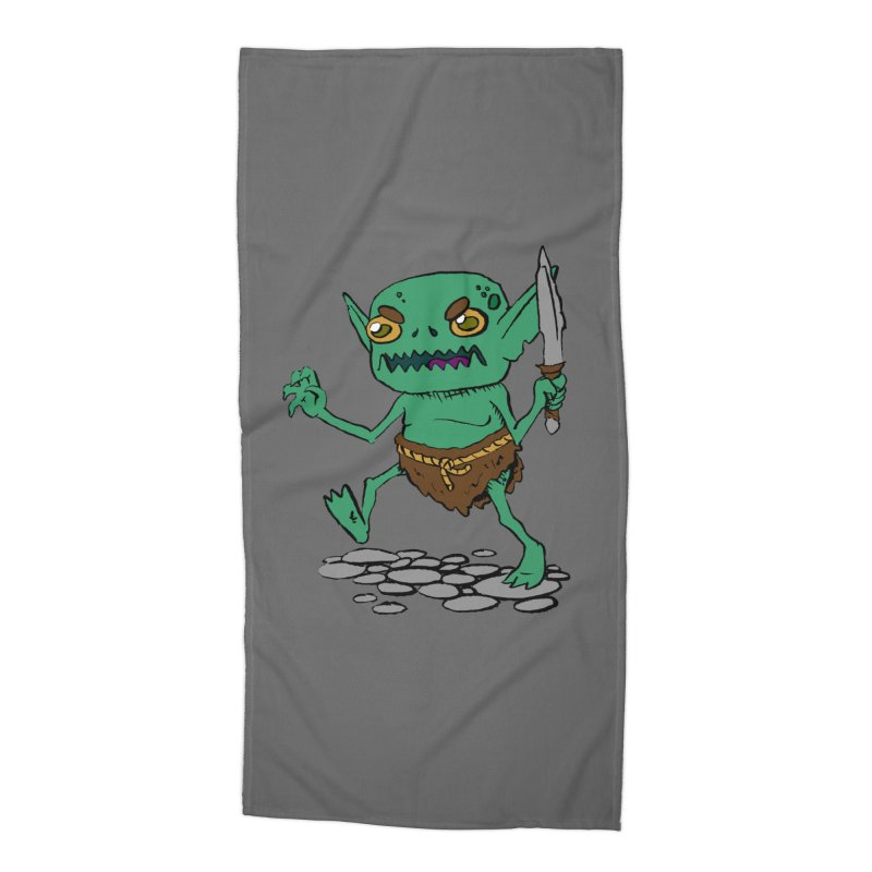 Sweet Goblin Boy Accessories Beach Towel by Nathan Burdette's Artist Shop