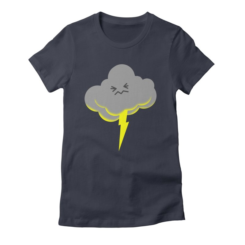 Shazam! Women's Fitted T-Shirt by Nathan Burdette's Artist Shop