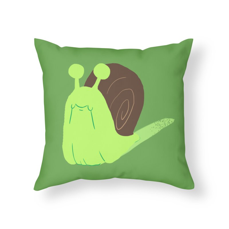 Slow & Sticky Home Throw Pillow by Nathan Burdette's Artist Shop