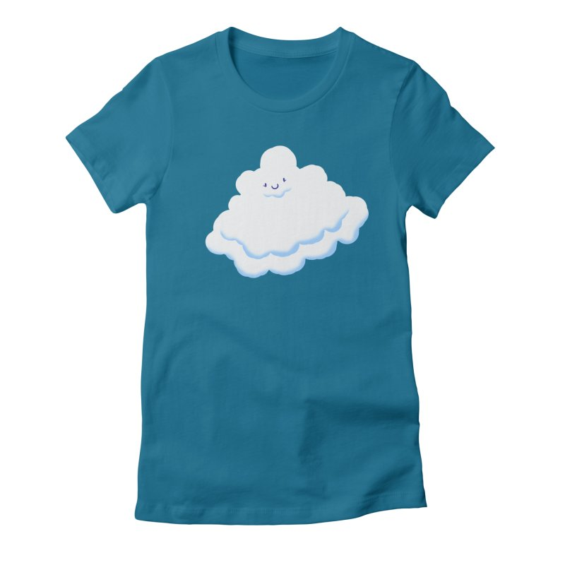Fluffy! Women's Fitted T-Shirt by Nathan Burdette's Artist Shop