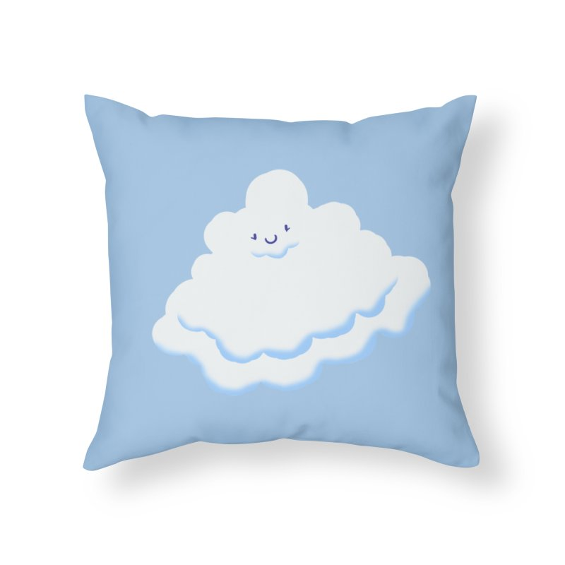Fluffy! Home Throw Pillow by Nathan Burdette's Artist Shop
