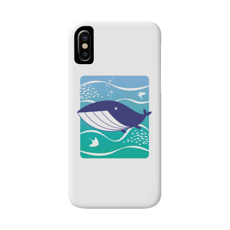 Happy Whale Accessories Phone Case by Nathan Burdette's Artist Shop